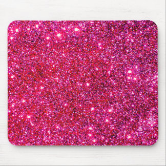 Red Sparkle Glittery Holiday Magic Party Mouse Pad