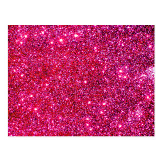 Red Sparkle Glittery Holiday Magic Party Postcard