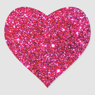 Red Sparkle Glittery Holiday Magic Party Heart Stickers