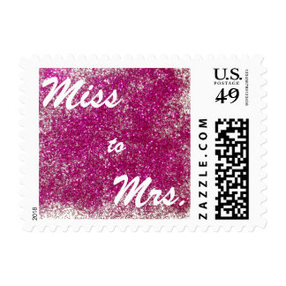 Red Sparkle Miss to Mrs Postage