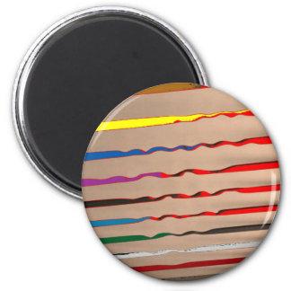 Red Sparkle Streak - HappyHolidays Fridge Magnets
