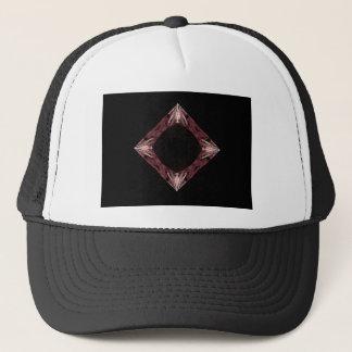 Red Sparkling Diamond Fractal Art Trucker Hat