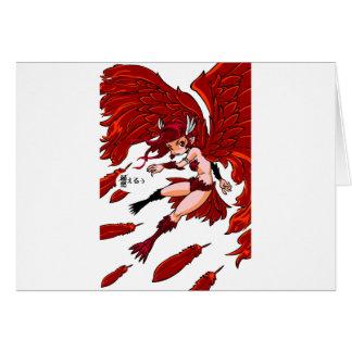 Red sparrow English story Sakurajima Kagoshima Card