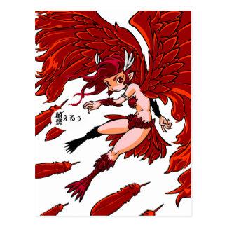 Red sparrow English story Sakurajima Kagoshima Postcard