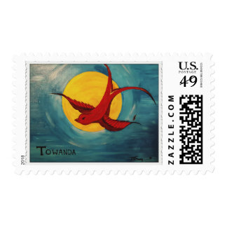 Red Sparrow Postage