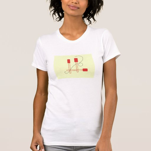 Red Spatulas on a Cream Background T Shirts