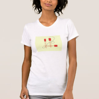 Red Spatulas on a Cream Background Tee Shirts