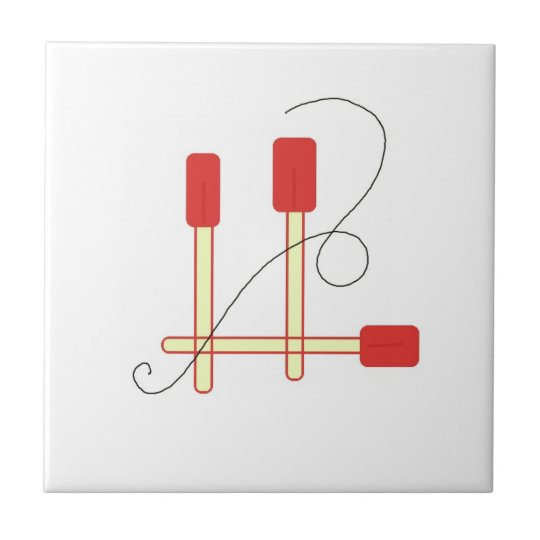 Red Spatulas Tile
