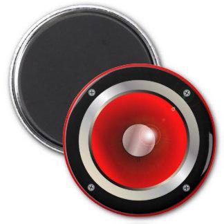 Red Speaker Cone 2 Inch Round Magnet