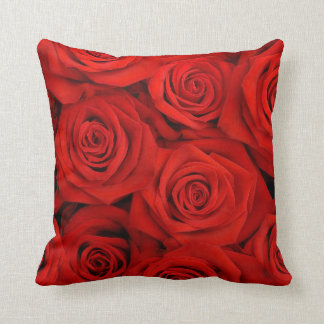 Red Spectacular Roses Pillow