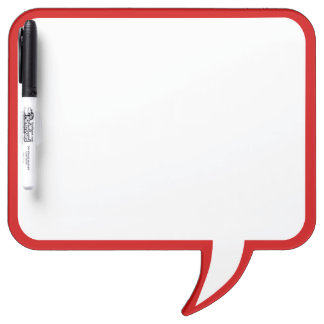 Red Speech Bubble Wall Decor Customize This Dry Erase Board