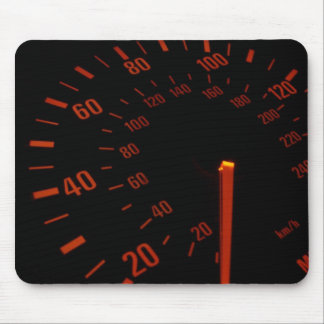 Red Speedometer Dial Mouse Pad