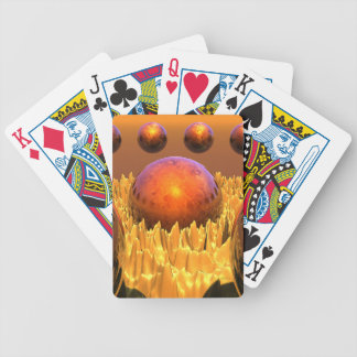 Red Spheres Bicycle Playing Cards