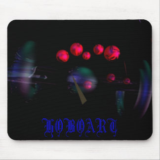 RED SPHERES, HOBOART MOUSE MAT