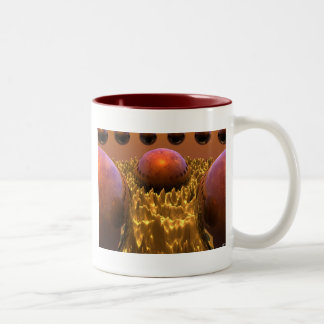 Red Spheres Two-Tone Coffee Mug