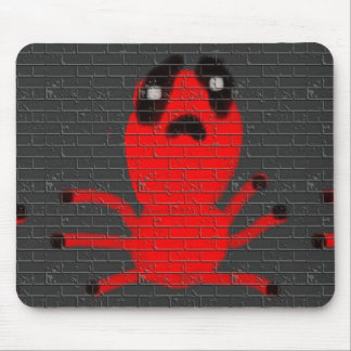 Red Spider Brown  Wall Painting, Art by Kids :) Mouse Pad