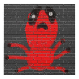 Red Spider Brown Wall Painting Graffiti Kids Art