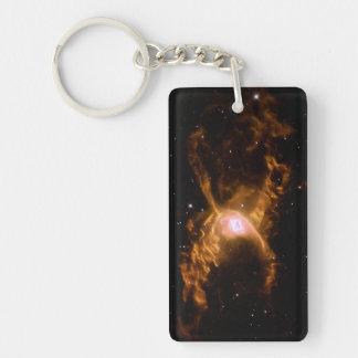 Red Spider Nebula Space Double-Sided Rectangular Acrylic Keychain
