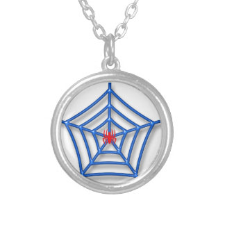 Red Spider Silver Plated Necklace