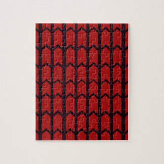Red Spider Web Jigsaw Puzzle