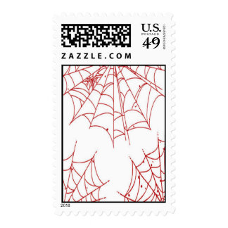 Red Spider Web Postage Stamps