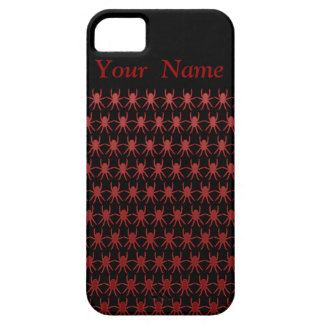 Red spiders on black personalized iPhone SE/5/5s case