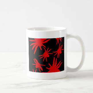 Red Spiders With Black Background Coffee Mug