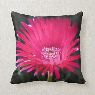 Red Spike Ice Plant Bloom Pillow