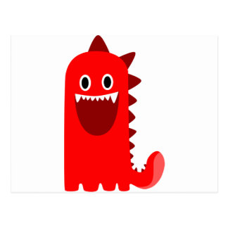 Red Spikey Monster Post Card
