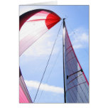 Red Spinnaker With Sun Card