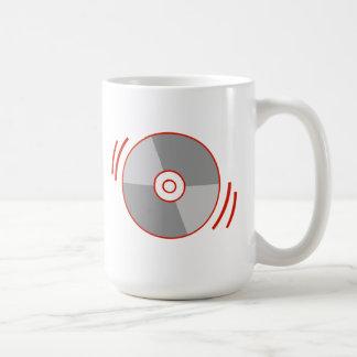 Red Spinning CD Coffee Mug