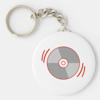 Red Spinning CD Keychain