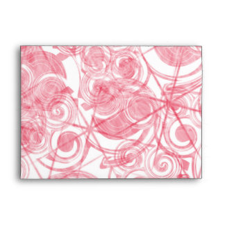 Red Spiral and Star Template Background Envelope