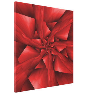 Red Spiral Arms Canvas Print