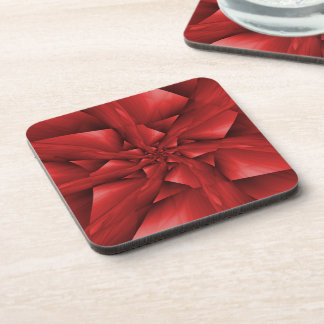 Red Spiral Arms Coasters
