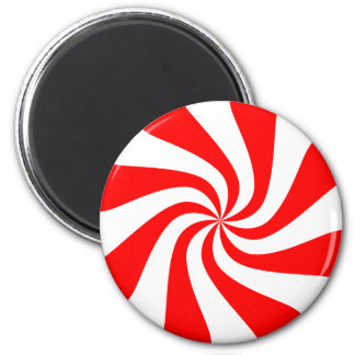 Red spiral candy pattern design magnet