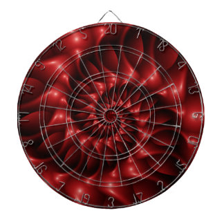 Red Spiral Dart Board