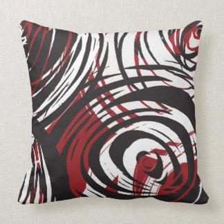 RED SPIRAL DESIGN 2 Retro Throw Pillow