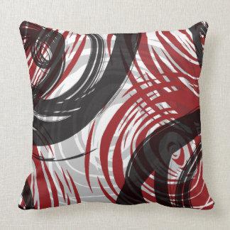 RED SPIRAL DESIGN Retro Throw Pillow