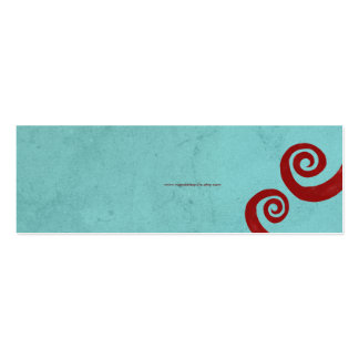 Red spiral distressed handmade business card