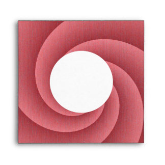 Red Spiral in brushed metal texture Envelopes