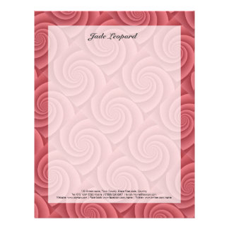 Red Spiral in brushed metal texture Letterhead