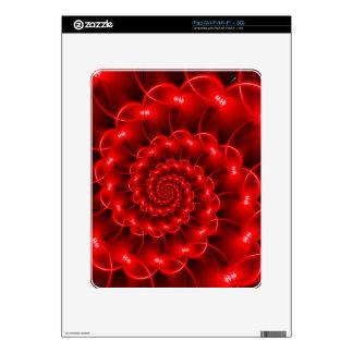 Red Spiral iPad Skin