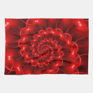 Red Spiral Kitchen Towel