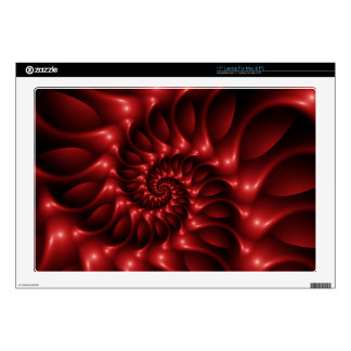 """Red Spiral  Laptop 17"""" Skin Skin For Laptop"""