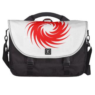 Red Spiral Computer Bag