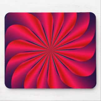 Red Spiral Mouse Pad