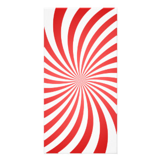 Red spiral photo card