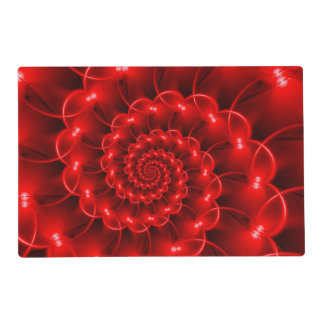 Red Spiral Placemat