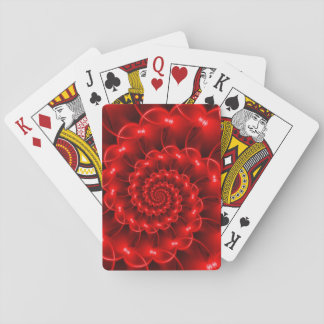 Red Spiral Playing Cards